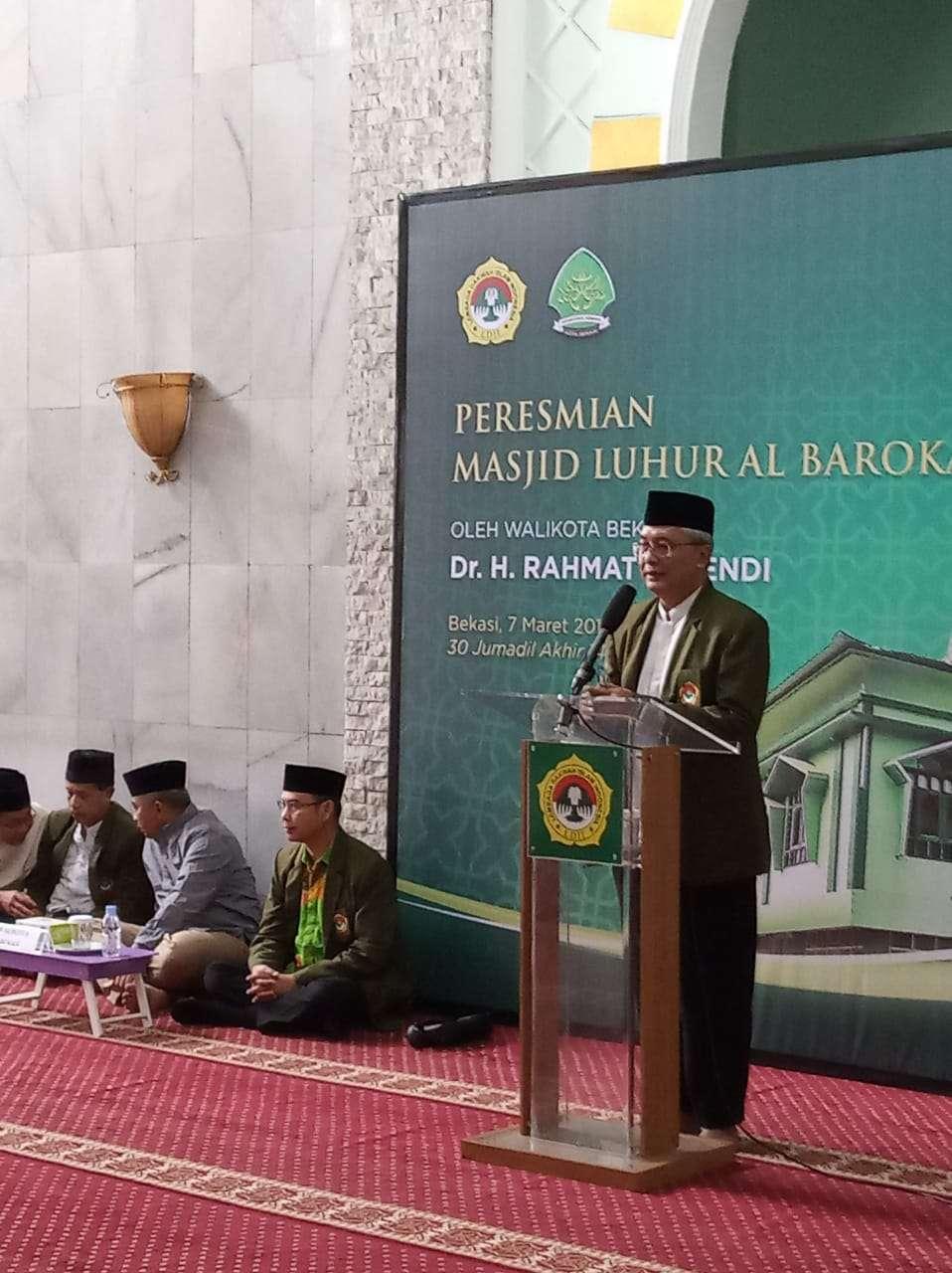 Masjid Luhur Al-Barokah LDII Jatiasih, Diresmikan Wali Kota Bekasi
