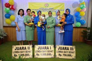 Sambut Hari Ibu Ke-91, Dharma Pertiwi Daerah L Gelar Lomba Bayi Sehat