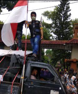 Wali Kota Bekasi didesak Menindak tegas Pembuang limbah B-3 material Pasir Foundry, dalam Aksi damai GMBI di Pemkot BEKASI