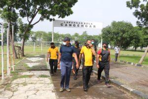 Wujudkan Sinergitas TNI-Polri Melalui Olahraga, Kapolres Cirebon Kota Sambangi Yon Arhanudse-14 PWY Cirebon