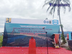 Peletakan Batu Pertama Pembangunan Penggantian Jembatan Aek Tano Ponggol