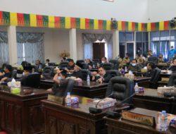 Ketua dan Seluruh Fraksi DPRD Apresiasi Usulan Dua Ranperda yang berguna demi Kesejahteraan Masyarakat