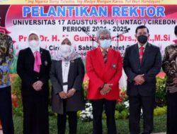 Rektor Untag Cirebon Dilantik, Sekda Kota Cirebon Berharap Sinergitas Tetap Terjalin