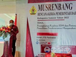 Pemulihan Ekonomi Menjadi Prioritas RKPD 2022 Di Kabupaten Samosir