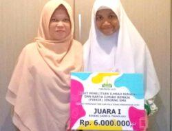 Siswi SMAS Plus Dayah Amal Raih Juara 1 Bidang Sains dan Teknologi Dalam Kompetisi PIRKIR