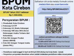 Pendaftaran BPUM di Kota Cirebon Buka Hingga 28 April 2021