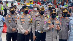 Kasat Lantas Polres Cirebon Kota Dampingi Kunker Kakorlantas di Pintu Tol Palimanan