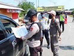 Antisipasi pemudik dan penyebaran Covid -19 Polda Riau dirikan 58 pos penyekatan.