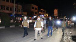 PLH Bupati Dan Kapolres Bersama Satgas Covid-19 Kabupaten Lakukan Operasi Yustisi Di Kec.Ujung Batu