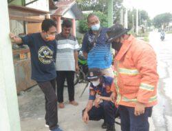 Lurah kerinci Timur di Dampingi Anggota DPRD kabupaten Pelalawan mengadakan kamis Bersih.