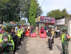 Hari Pertama, Kapolres Cirebon Kota bersama Dandim 0614/Kota Cirebon dan Unsur Terkait Pantau Langsung Lokasi Penyekatan