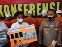 Satres Narkoba Polres Cirebon Kota Tangkap 10 Tersangka Pengedar