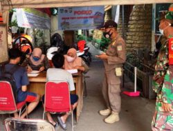 Pol PP Sukapura Cilincing Berikan Sanksi Sosial Terhadap 33 Orang Pelanggar Prokes