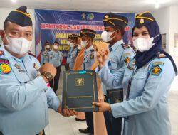 KALAPAS Kukuhkan Kenaikan Pangkat 5 orang petugas LAPAS Pasir Pengaraian