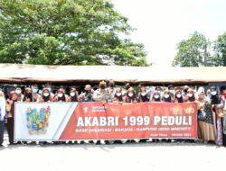Kapolres Aceh Timur Meninjau Pelaksanaan Vaksin Merdeka AKABRI 1999