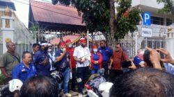 Unjuk Rasa Aliansi Pers Geruduk Kantor Gubernur Riau.