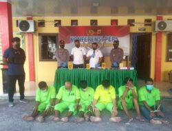 Polres Aceh Timur Gelar Konferensi Pers Pengungkapan Sejumlah Kasus
